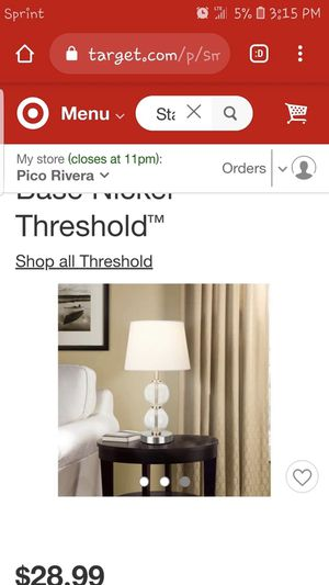 Small Stacked Clear Glass Ball Table Lamp for Sale in Montebello, CA