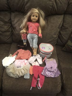 """American Girl Doll """" Isabelle"""" along with extra clothing and accessories, including mini """" Isabelle"""", all in great condition for Sale in Irvine, CA"""