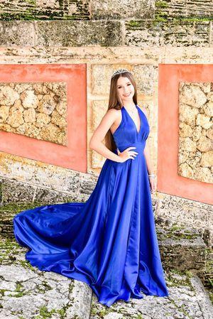 Shail K. Royal Blue Halter Prom Dress for Sale in Miami, FL
