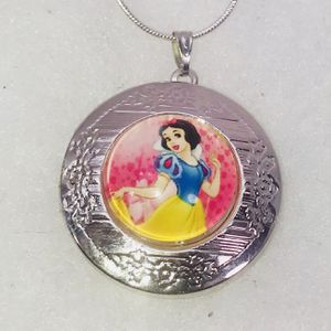 """Tibetan silver """"THE ❤️ LOVELY SNOW WHITE!"""" Round locket & .925 stamped sterling silver necklace NEW! for Sale in Carrollton, TX"""