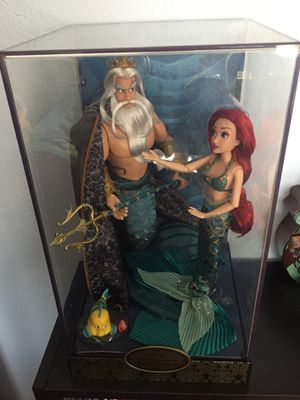 Disney designer Ariel and King Triton dolls for Sale in South San Francisco, CA