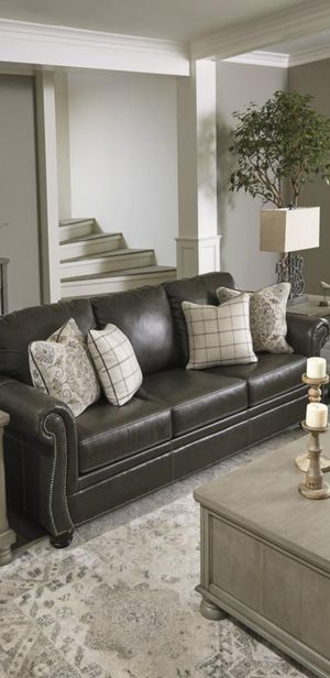 💯Lawthorn Slate Leather Living Room Set byAshley for Sale in Brooklyn Park, MD