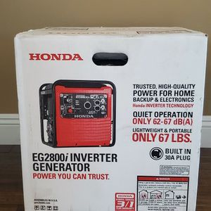 Brand new never used SEALED BOX Honda 2800-Watt Recoil Start Portable Gasoline Powered Inverter Generator with Eco-Throttle and Oil Alert $$ 850 firm for Sale in Bakersfield, CA