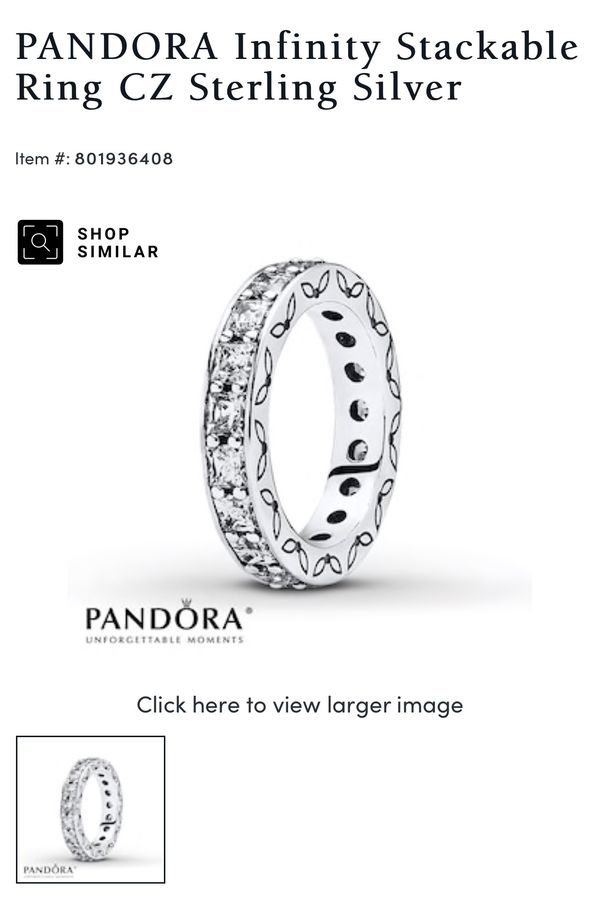 Pandora ring new in box with tag