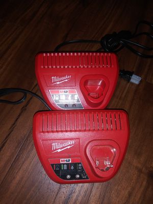 Brand New Milwaukee M12 Chargers And 2 Used Construction Hard Hat's for Sale in La Mesa, CA