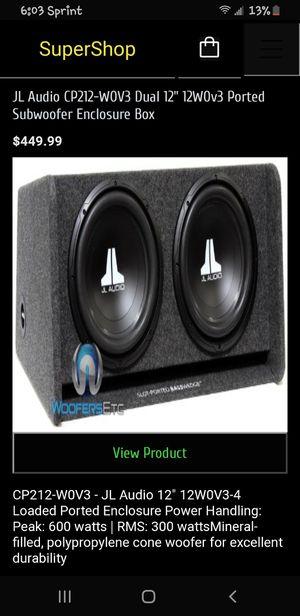 15 inch JL audio speaker n box only 1 speaker works for Sale in Houston, TX