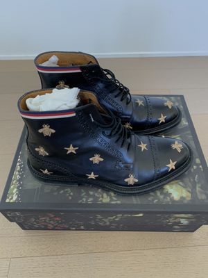 Gucci Embroidered Bee Star Brogue Boots 7 Black for Sale in Los Angeles, CA