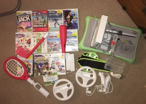 Nintendo Wii, balance board, accessories and games for Sale in Duarte, CA
