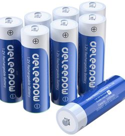 Deleepow AA Rechargeable Batteries Nimh 3300mAh 1.2V Batteries AA Size Rechargeable High Capacity 1200 Cycles 8-Pack for Sale in San Jose,  CA