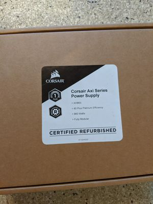 Power supply 860 watts / platinum / Corsair axi series / sealed and refurbished for Sale in Irvine, CA
