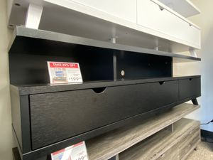 Olivia TV Stand for TVs up to 70 inch, Black for Sale in Santa Fe Springs, CA