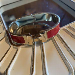 Women's clic clac H red enamel bracelet for Sale in Tracy, CA