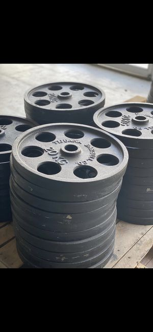 20 kg Olympic size weights plates for Sale in Chula Vista, CA