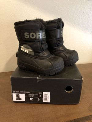Sorel Snow Boots, Childrens Snow Commander, Size 8 toddler/kid for Sale in Etiwanda, CA
