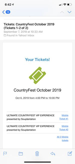 2 SOLD OUT Country Fest Ultimate VIP Tickets for Sale in San Diego, CA