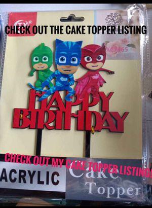 PJ Masks Birthday Cake topper for Sale in Los Angeles, CA