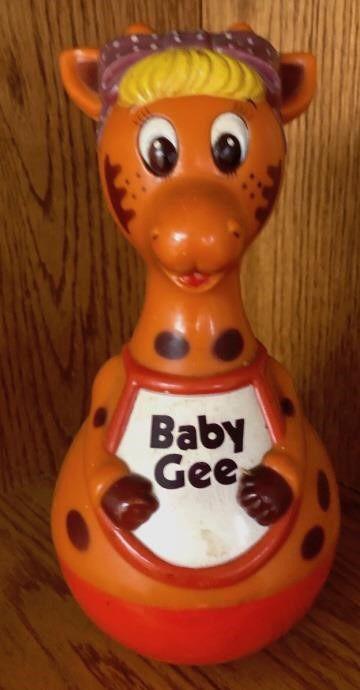 VINTAGE! Webble Wobble Baby Gee Giraffe