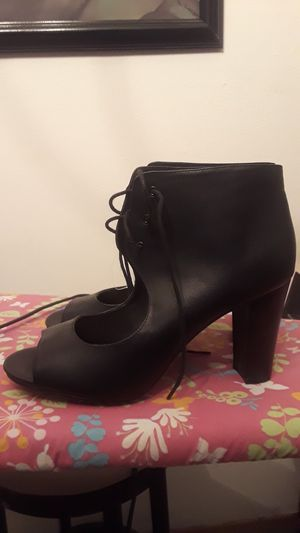 Lace up black peep toe heels for Sale in Overland, MO