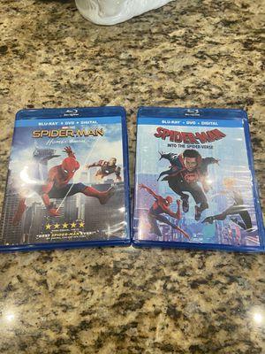 Spider-Man Homecoming & Spider-Man Spider-Verse Blu-Ray for Sale in West Palm Beach, FL