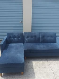 Blue Sectional Couch for Sale in Orlando,  FL