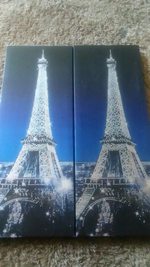 Eiffel Tower Twin Hanging Art for Sale in Columbia, MO