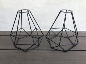 Frideko Vintage Style Lamp Shades Black Metal Bird Cage for Sale in Los Angeles, CA
