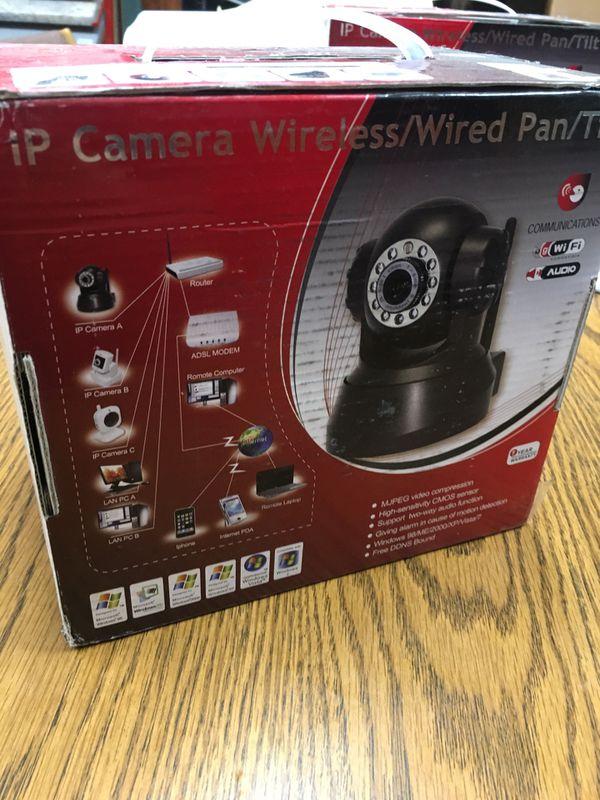 IP Camera Wireless Wired Pan/Tilt