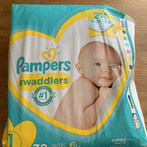 Pampers swaddlers size one brand new for Sale in Fort Lauderdale, FL