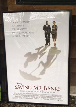 Authentic Movie Theater Promotional Poster - Disney Saving Mr. Banks for Sale in Issaquah, WA