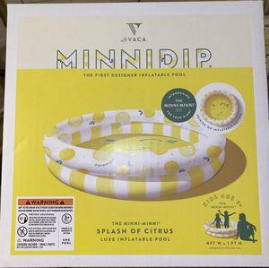 La Vaca Designer kiddie pool Minnidip inflatable for Sale in Alexandria, VA