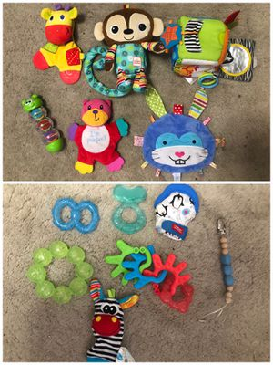 Teething toys and noise makers for Sale in Kennewick, WA