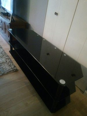 Glass tv stand for Sale in St. Louis, MO