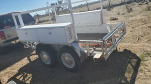 utility trailer 10×6 double axle 1,800 obo for Sale in San Bernardino, CA