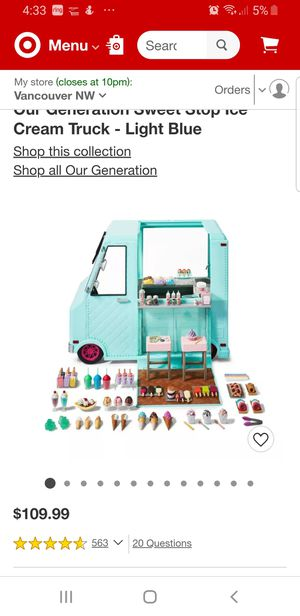 Our generation doll and ice cream truck for Sale in Vancouver, WA