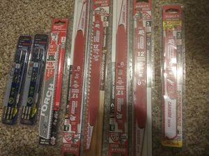 6 new packs Diablo sawzall blades and 2 packs of Bosch drill bits for Sale in Mansfield, MA