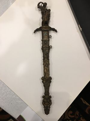 Heavy detailed bronze dagger 18+_inches from tragic scene Othello for Sale in Chicago, IL