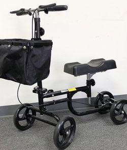 $95 (new in box) knee scooter steerable walker crutch adjustable with braking system 300lbs max for Sale in Pico Rivera,  CA