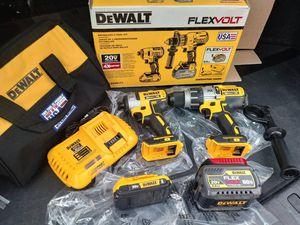 DeWalt Flex volt combo hammer drill and impact XR brushless for Sale in San Bernardino, CA