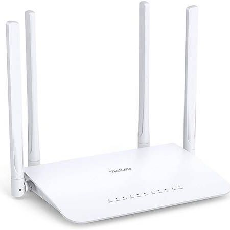 AC1200 WiFi Router Dual Band Wireless Router for Home, 4 Gigabit LAN Ports and Coverage up to 3500 sqft and 27 Devices, Supports Beamforming, Guest W