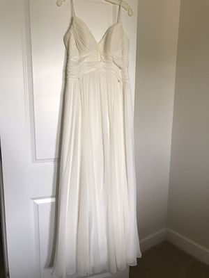 Chiffon A-Line Wedding Dress for Sale in Sudley Springs, VA