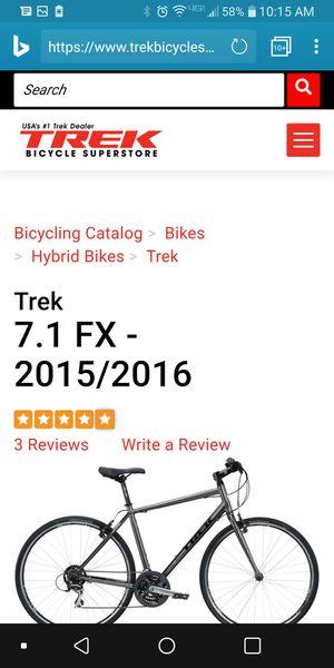 "NIB Trek Charcoal 7.1X17.5"" Men Bike for Sale in San Francisco, CA"