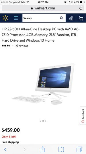 White Hp desktop for Sale in Cleveland, OH