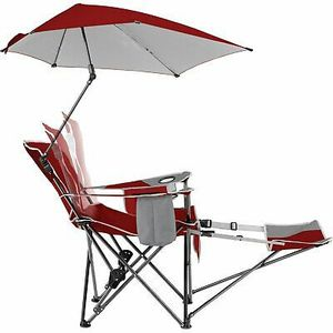 Sport-Brella, Recliner CHAIR REMOVABLE UMBRELLA and Footrest, 3-Position for Sale in North Bay Village, FL