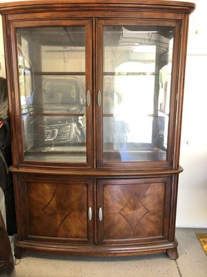 China Cabinet with lights for Sale in Peoria, AZ