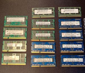 Assorted Laptop Ram DDR2/DDR3 Lot for Sale in Los Angeles, CA