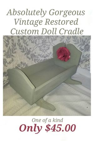 Absolutely Gorgeous One of a Kind Baby Doll Cradle for Sale in Buford, GA