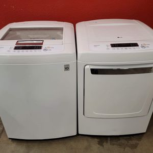 LG washer and electric dryer set good working condition set for $399 for Sale in Lakewood, CO
