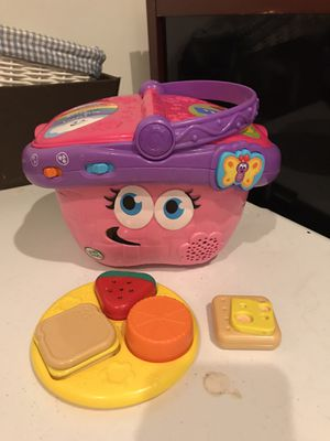 Leap frog shape sorting shopping basket toy for Sale in Virginia Beach, VA
