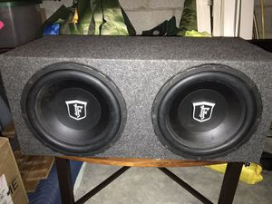 """(2) 12"""" Subwoofers with 1200 Watt Amp for Sale in Los Angeles, CA"""