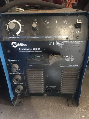 MILLER SYNCROWAVE 180SD for Sale in Queens, NY